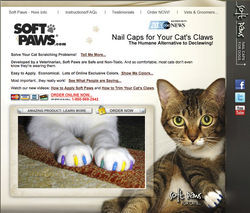 Soft Paws offers a fashionable alternative to declawing.