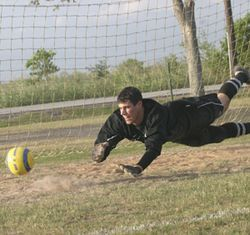 A talented goalkeeper, Pavlos was sidelined for most of the season.