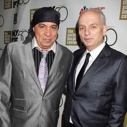 (Left to right) Executive Producer Steven Van Zandt and Writer / Director David Chase attend the Centerpiece Gala and World Premiere of NOT FADE AWAY during the 50th Annual New York Film Festival at Alice Tully Hall in New York City on October 6, 2012.