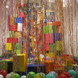 Mark Ponder's installation depicts the aftermath of an absurd birthday party.