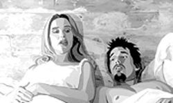 Former Linklater stars like Julie Delpy and Ethan Hawke make animated cameos in Waking Life.