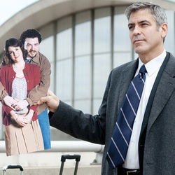 Ryan (George Clooney) travels 322 days out of the year.