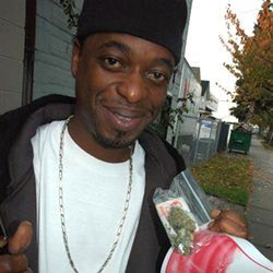 Devin the Dude keeps his eyes red so his teeth look white.