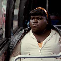 Precious (Gabourey Sidibe) emerges as something more than a statistic.