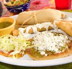 The best bet at Doña Tere is to order giant tamales — of whatever variety.