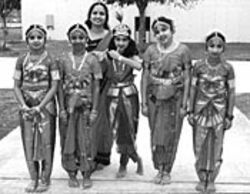 The Bharatha Natyam dancers