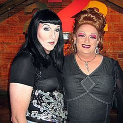 Cher and Craven (not their real names) at Drag Queen Bingo.
