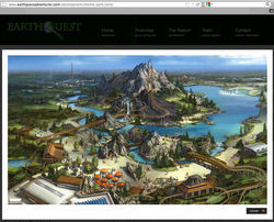 "Visitors to EarthQuest's ""Land"" zone will ""blast from a fiery volcano"" and ""trek through endless deserts,"" according to the nonexistent park's Web site. See www.earthquestadventures.com for the whole shebang."
