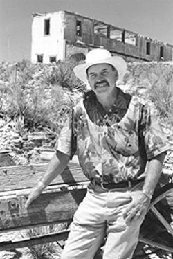 Ivey, an owner of Terlingua Ghost Town, wants to restore the hilltop Perry Mansion.