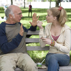 Boris (Larry David) and Melodie (Evan Rachel Wood) marry.