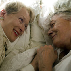 It&#039;s a relief when Meryl Streep (with Vanessa Redgrave, right) blows into town.
