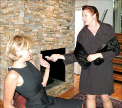 Mrs. Toothe (Jackie Pender-Lovell, right) makes Jenny (Elizabeth Marshall Black) an offer she can&#039;t refuse.