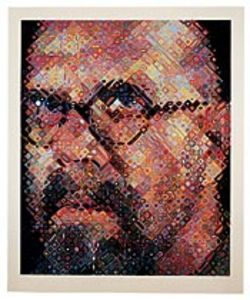 Chuck Close de- and reconstructed himself for this 