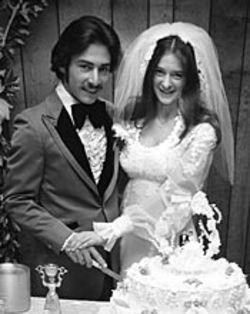 The Odoms' 1980 wedding: He still wasn't ready to  settle down.