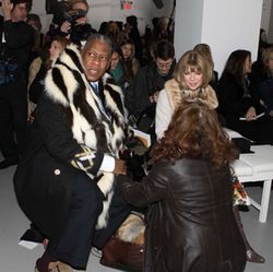Editor-at-Large André Leon Talley and Anna Wintour were filmed two years ago — ­during a different era.