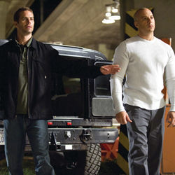 Time to make some money: Paul Walker and Vin Diesel are back.
