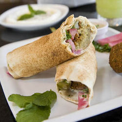 You can&#039;t go wrong with the falafel or the labneh.