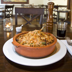The cassoulet with confit duck leg is sensational.