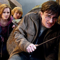The film celebrates the unbreakable bond of friendship between Hermione (Emma Watson), Ron (Rupert Grint) and Harry (Daniel Radcliffe).