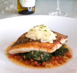 "Wash down the ecstasy-inducing ""crispy skin snapper"" with the best Pinot Grigio on the planet."
