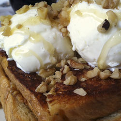 Harry's does French toast the decadent way: with Greek yogurt ice cream and a baklava filling.