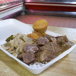 An order of beef tips at Davis Meat Market could feed a medium-sized family.