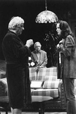 William Hardy, Charles Bailey and Sara Gaston star in Nagle Jackson's Taking Leave.