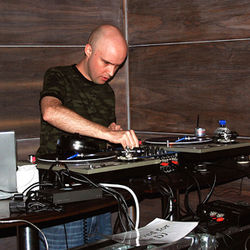 Ibiza DJ Jason Hilbert fine-tunes his tables on a recent Saturday night.