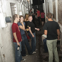 Sneakin' Sally through the alley is a popular pastime at The Mink.