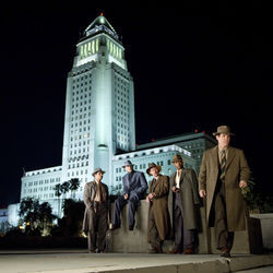 Josh Brolin (far right) as Sgt. John O'Mara puts together an unofficial squad to bust Mickey Cohen's rackets.
