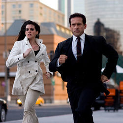 Slapstick for the tele-literate: Get Smart, with Anne Hathaway and Steve Carell.