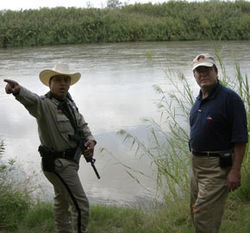 Culberson visits the Mexican border, which he says is the front lines of the war on terror.
