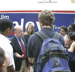 The Young Democrats of Lamar High hook up with Henley.