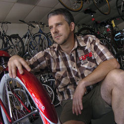 Cisco Rios was one of Matt Wurth's favorite customers at his I Cycle bike shop in the Heights area. His death spurred Wurth into activism.