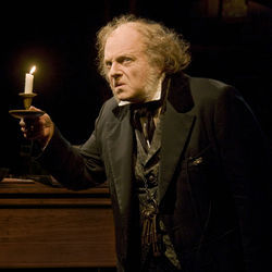 The great Jeffrey Bean as Ebenezer Scrooge in the ­Alley's A Christmas Carol.