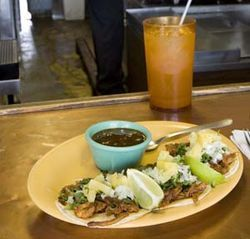 Mexico's Deli serves some of the best tacos al pastor in Houston.