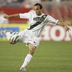 Landon Donovan and the L.A. Galaxy kick it.