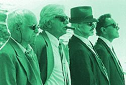 Grumpy old mobsters (from left): Reichard Dreyfuss, Seymour Cassel, Burt Reynolds and Dan Hedaya
