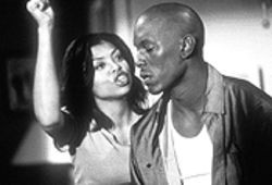 "Childish behavior: Jody (Tyrese Gibson) is helpless in the presence of his ""mama"" (Taraji P. Henson)."