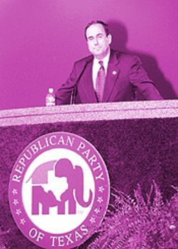 Polland finally got the podium - but not the spotlight - at the state GOP confab.