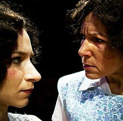 The daughter and the iron-fisted matriarch: Hennie (Natalie Arneson) and Bessie (Luisa Amaral-Smith).