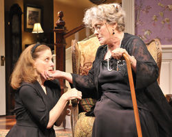 The money-grubbing Mary Jo and matriarch Stella: Hallie Foote and Elizabeth Ashley