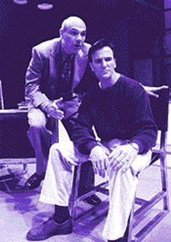 Peter Kybart (left)  and Jonathan McVay in Stages' uneven production of The Dying Gaul.