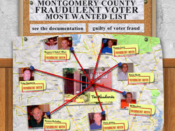 A website, Montgomeryvoterfrauds.com, popped up accusing Heath and others of voter fraud before they were even charged in the case.