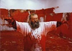 Blood lust: Nitsch.