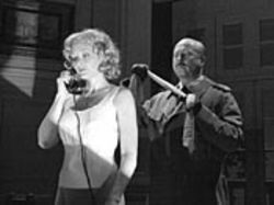 Elizabeth Heflin and James Belcher in Dial &quot;M&quot; for 