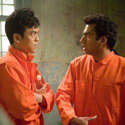 "The movie, with John Cho and Kal Penn, tries for ""thinky"" but is mostly dumb."