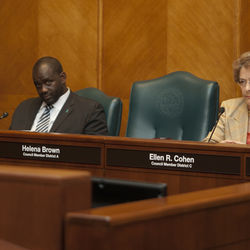Houston City Council meetings on Tuesdays begin at 1:30 p.m., but Council Member Helena Brown usually doesn't show up until around 2 p.m., often one of the last people to take her seat in the chambers.