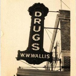 One of the original 3700 Main inhabitants, Wallis Drugs.
