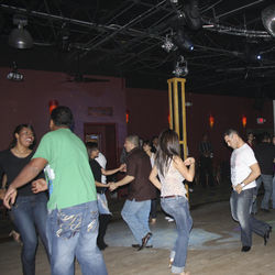 The dance floor is just getting warmed up at Tropicana's Tuesday-night salsa class.